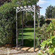 wrenbury square top metal garden arch