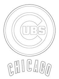 Small Picture Chicago Cubs Logo coloring page Free Printable Coloring Pages