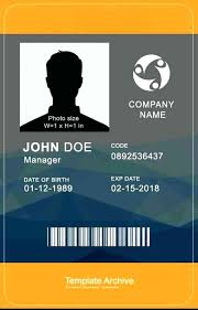 vertical id card 4 word fake high template id templates awesome unique fake social security card