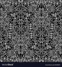 black and white vintage floral wallpaper.  White Seamless Vintage Floral Wallpaper Vector Image In Black And White Vintage Floral Wallpaper