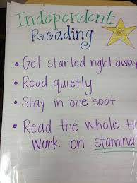 The Fashionista Teacher Independent Reading Anchor Chart