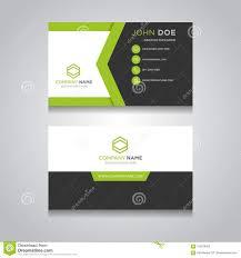 Business Card Vector Modern Design Stock Vector Illustration Of