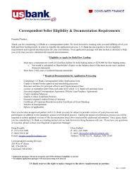 Correspondent Seller Eligibility Documentation Requirements