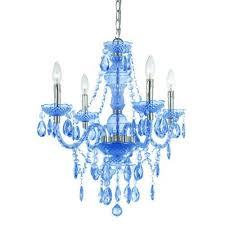 vintage blue plastic chandelier