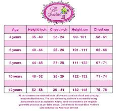 American Doll Size Chart Lilli Lovebird Size Guide For Girls Dresses And Matching
