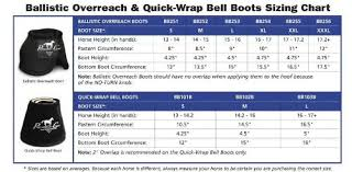 Bell Size Chart Professionals Choice Ballistic No Turn Overreach Bell Boots Sizes