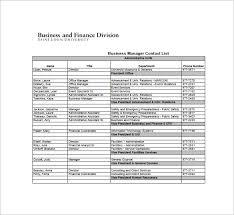 Contact List Spreadsheet Template Contact List Template 12 Free Word Excel Pdf Format