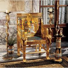 features hand painted full size replica throne design toscano