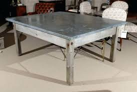 diy zinc table top stunning zinc top bistro table with best tops images round zinc table