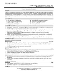 Alluring Hr Manager Resume Sample Pdf With Of Human Resources Job