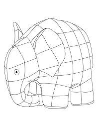 Coloring Page Of Elmer The Elephant Coloring Pages