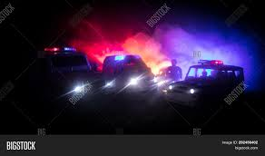 Free Police Lights Police Cars Night Image Photo Free Trial Bigstock