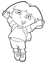 Coloring Pages For Girls Dora The Explorer Cartoon Coloring Pages