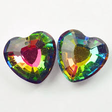 details about 33x32x13mm 2pcs faceted multicolor crystal heart pendant bead nn613
