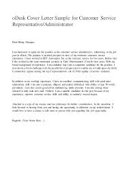 Customer Service Representative Cover Letter Template Sample