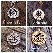 tree of life large hand stamped gold fill pendant jewellery necklace