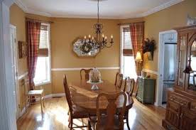 paint colors for dining room with chair rail then it went to this painted below the chair rail white and added the