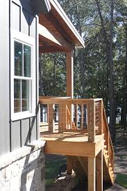 lake house porch stairs appalachia lake house design with walkout basement