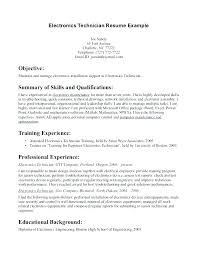 Sample Resume For Electronics Technician Audio Visual Technician Resume Electronics Technician Resume Samples