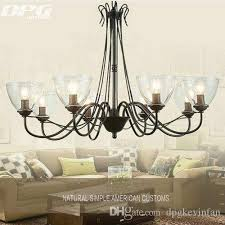 modern art deco led black iron chandeliers lights fixtures with glass lampshade for the living room bedroom kitchen modern chandeliers chandelier lighting