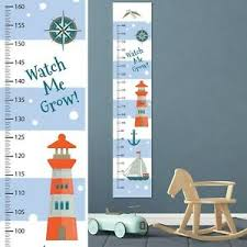 Nautical Growth Chart Details About Personalised Gift Idea Canvas Boys Height Growth Nautical Sea Ship Add Name Dob