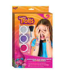 dreamworks trolls hug your heart out cotton fabric jo ann dreamworks trolls glitter tattoo kit hi res