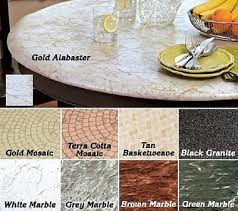 fitted vinyl tablecloth round fits 40 to 48 tables beige granite