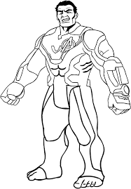 Disegno Di Hulk Di Avengers Endgame Da Colorare