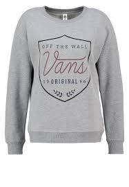 Vans Women Sweatshirts Sweatshirt - grey heather,vans tumblr wallpaper,vans  old skool trainers