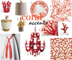Coral Home Decor Accents