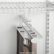 wire shelving tie rack com closetmaid 8060 sliding belt rack