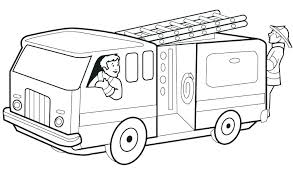 Fire Trucks To Color Fire Truck Coloring Pages To Print Pictures Of