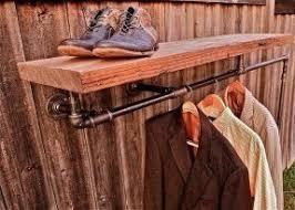 Pipe Coat Rack Shelf And Coat Rack Foter 37