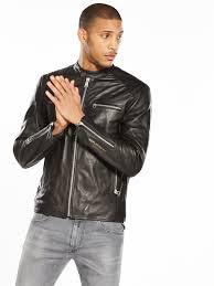 replay leather biker jacket black item numberlvujv gujuxmu