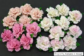 Paper Carnation Flower 20 Mixed Pink Mulberry Paper Carnation Flowers Saa 116 Promlee