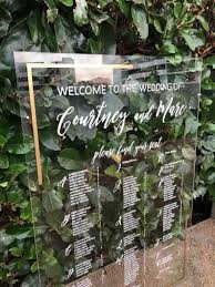 Goodyear Seating Chart Acrylic Wedding Seating Chart With Gold Border Seating