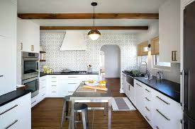kitchen ideas white cabinets black countertop. Black And White Kitchen Backsplash With Mosaic Tile Ideas . Cabinets Countertop