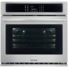 frigidaire gallery 30 in single electric wall oven self cleaning with convection in stainless