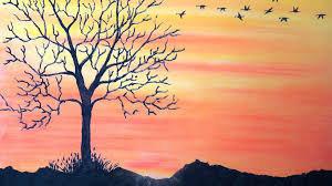 how to draw sunset with pastel return to home with mentary you