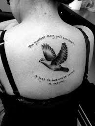 dove tattoos with quotes. Plain Dove Doves And Quotes Tattoos Men 65 Peace Dove Tattoo Meanings Ideas In With