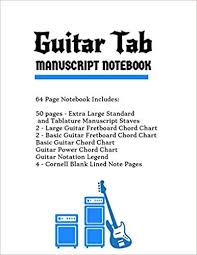 Pin On Guitar Tab Manuscript Notebooks With Extra Large