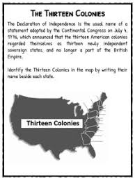 declaration of independence facts worksheets school study resource the 13 colonies