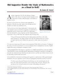 Augustine Mathematics Edu T214 Teaching Mathematics Studocu