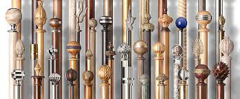 custom curtain pole finials british decorative window furniture throughout designer curtain rods