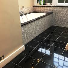 black marble floor tiles. Black Polished Marble Bathroom Floor In Baldock After Tiles H