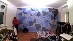 geometric wall paintDIY Geometric Wall painting  YouTube