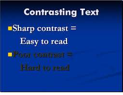 presenter tips using fonts in powerpoint use contrasting fonts in powerpoint presentations