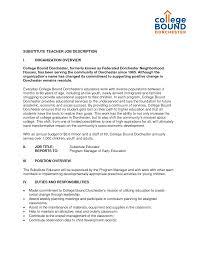 Substitute Teacher Job Description Resume Beautiful Substitute Teacher Duties Resume Photos Entry Level 18