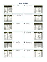 two year calender 2016 two year calendar free printable templates