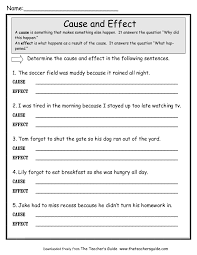 cause and effect worksheets from the teacher s guide cause and effect worksheet